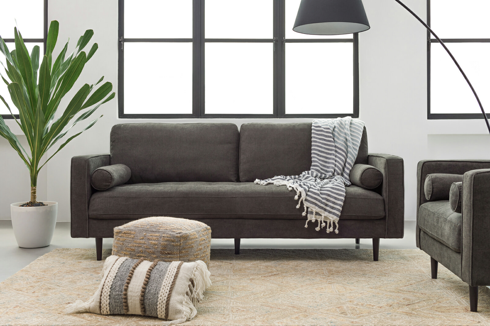 Soho sofa charcoal