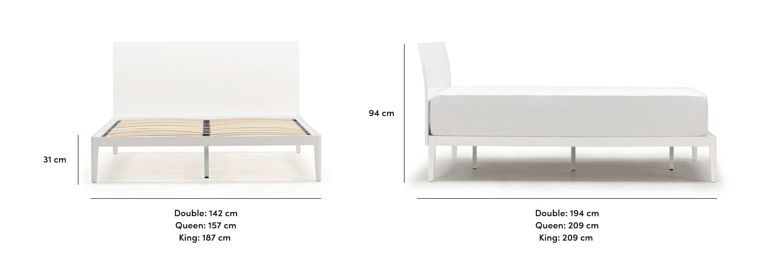 Sunrise bed dimensions