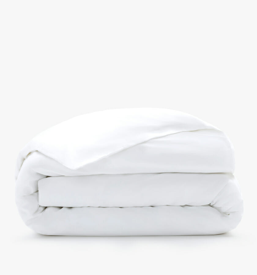 Cotton sateen duvet cover - white