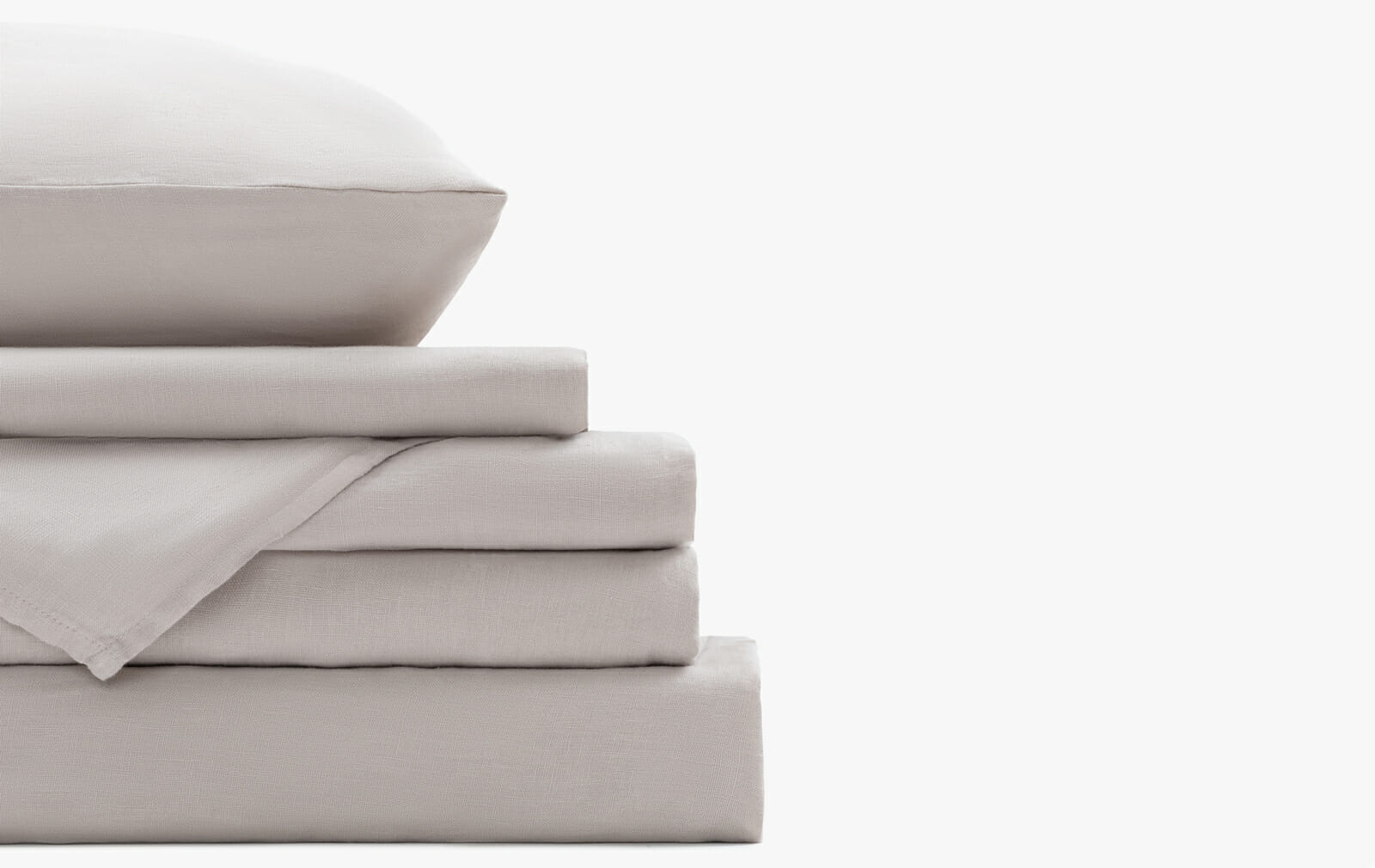 French linen bedding set - Sand