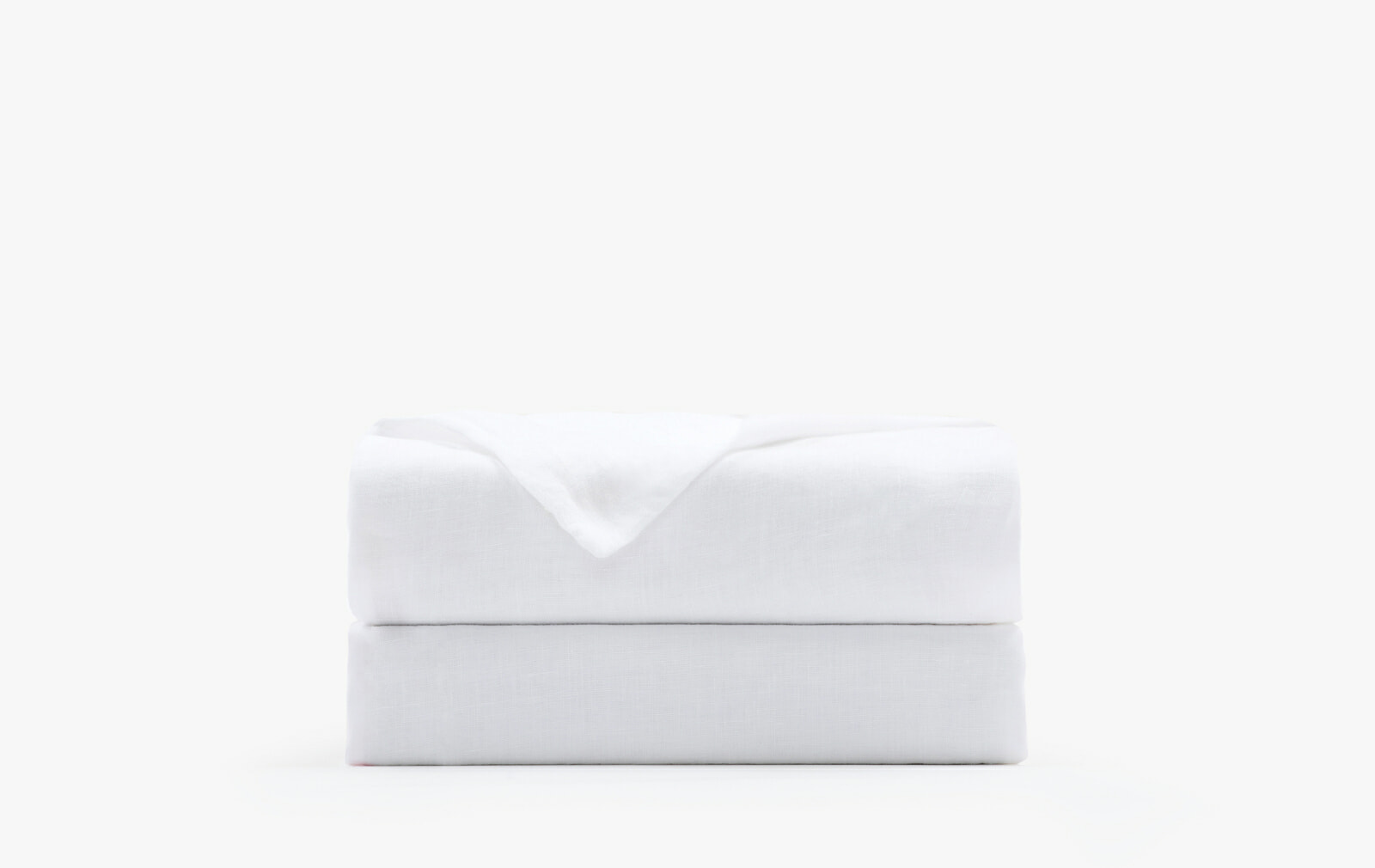 French linen flat sheet - white