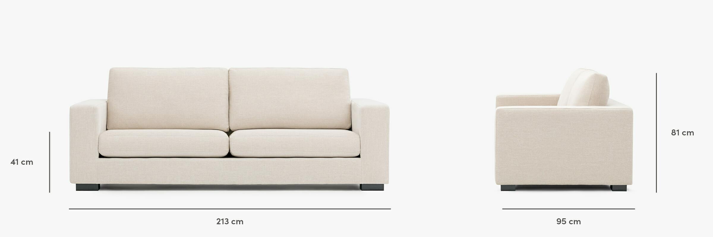 Malibu sofa dimensions