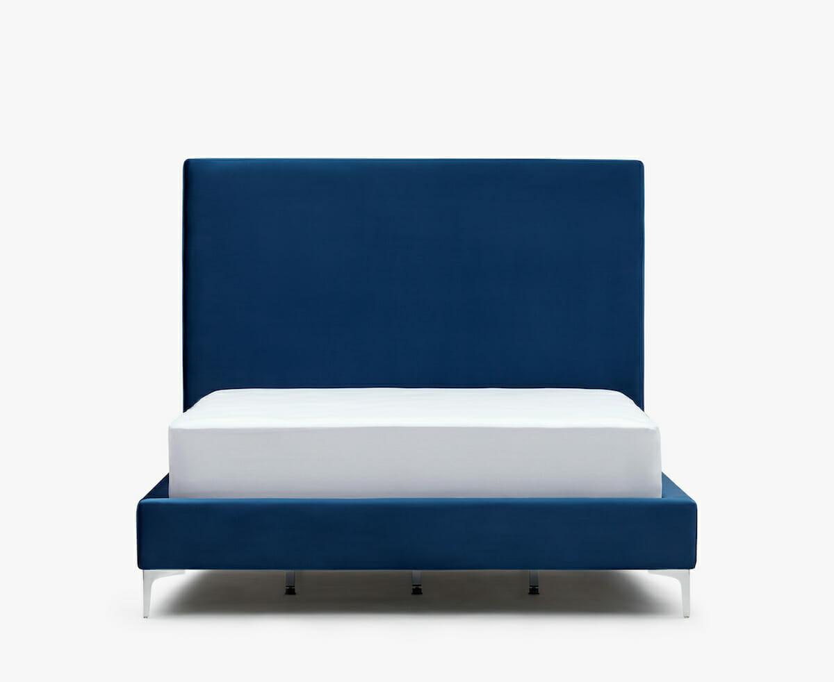 Modena velvet bed - blue