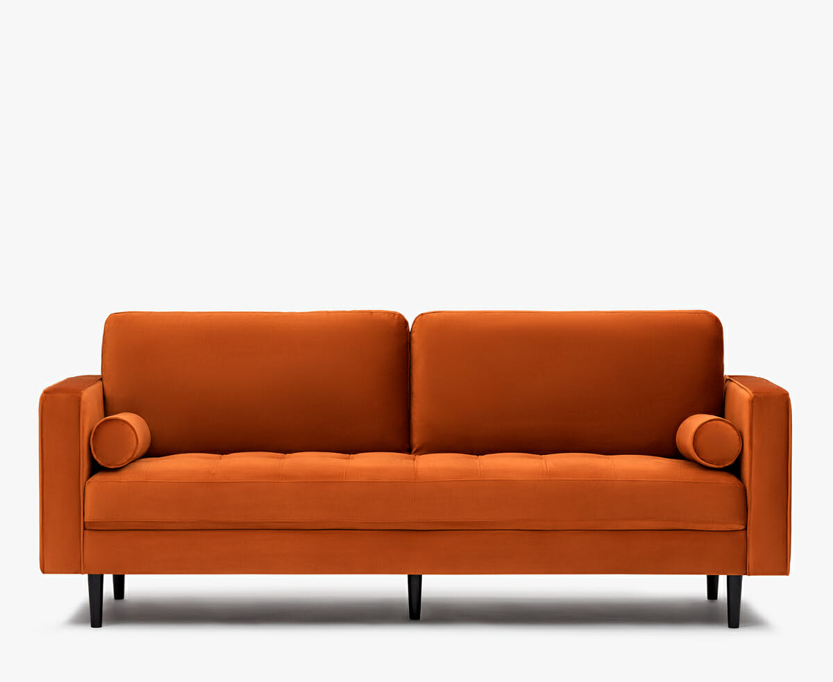 Soho velvet sofa orange