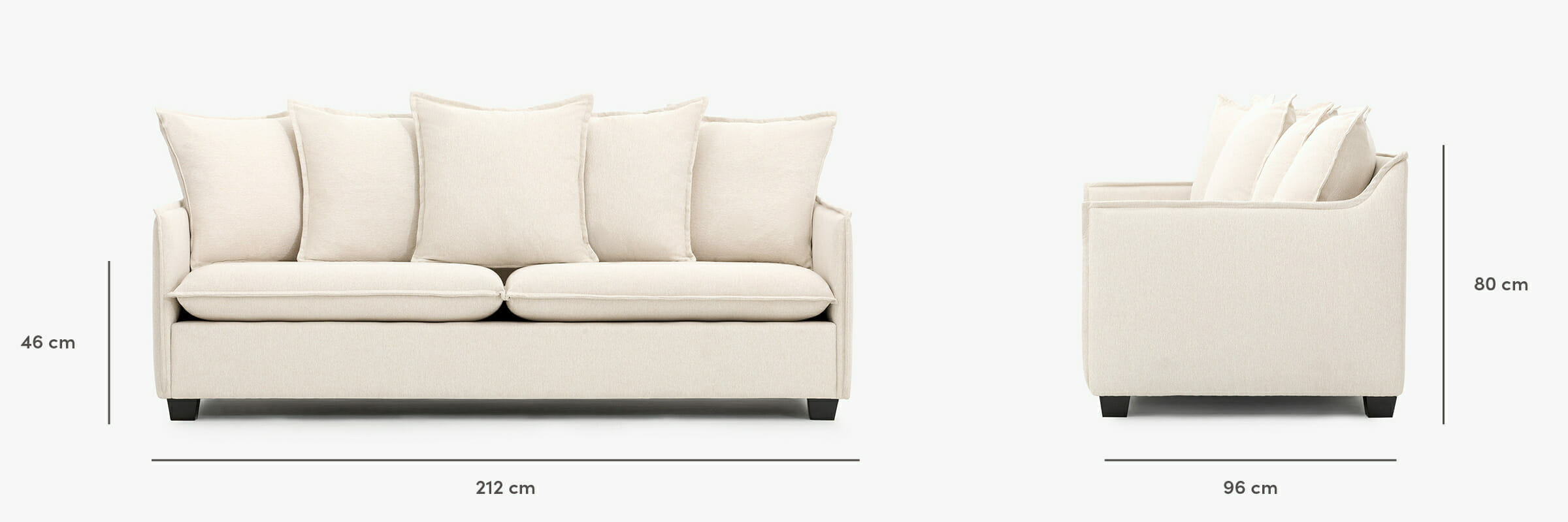 Miami sofa dimensions