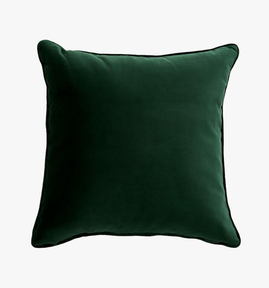 Eden velvet pillow - green