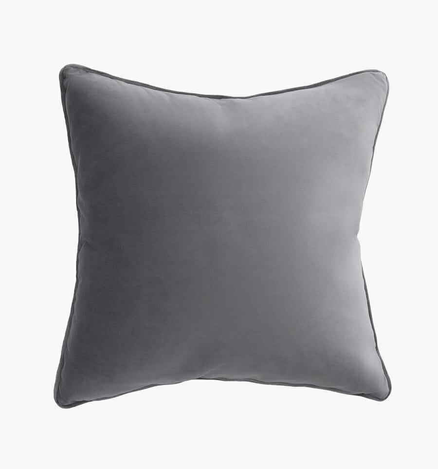 Eden velvet pillow - grey