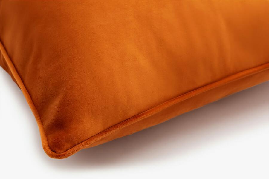 Eden velvet pillow - orange