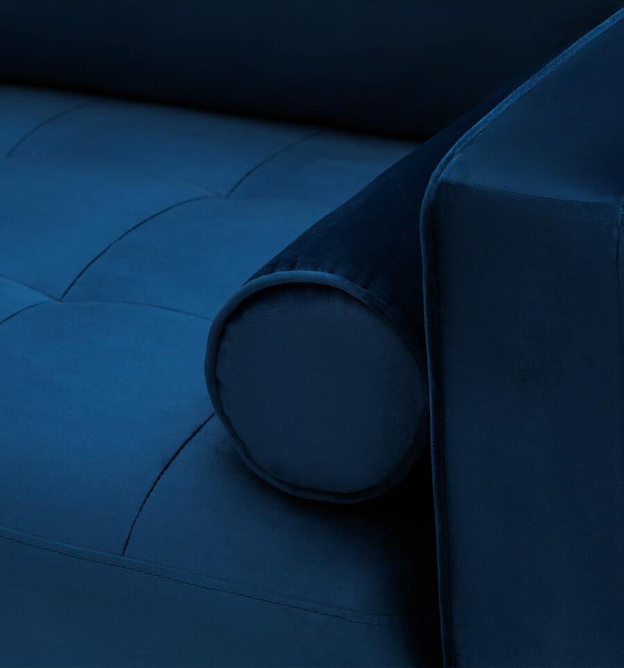 soho velvet sofa - blue