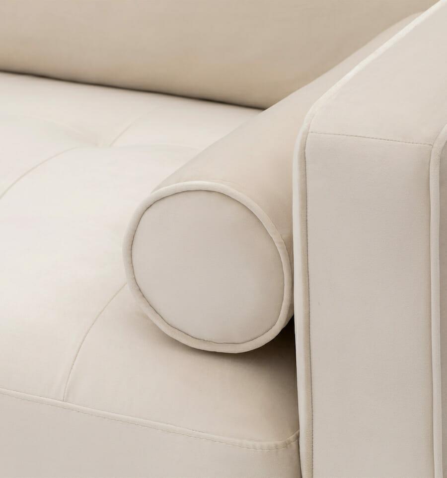 soho velvet sofa - cream