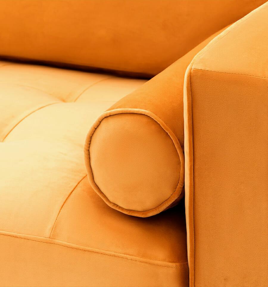 soho velvet sofa - gold