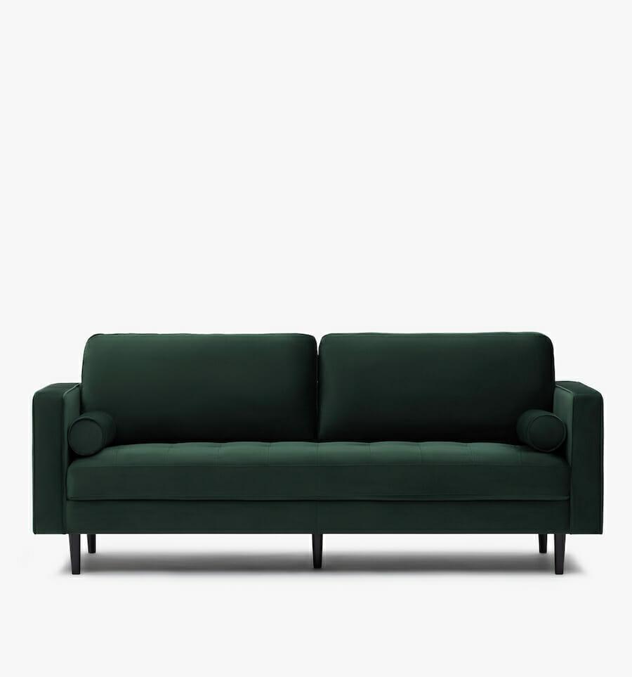soho velvet sofa - green