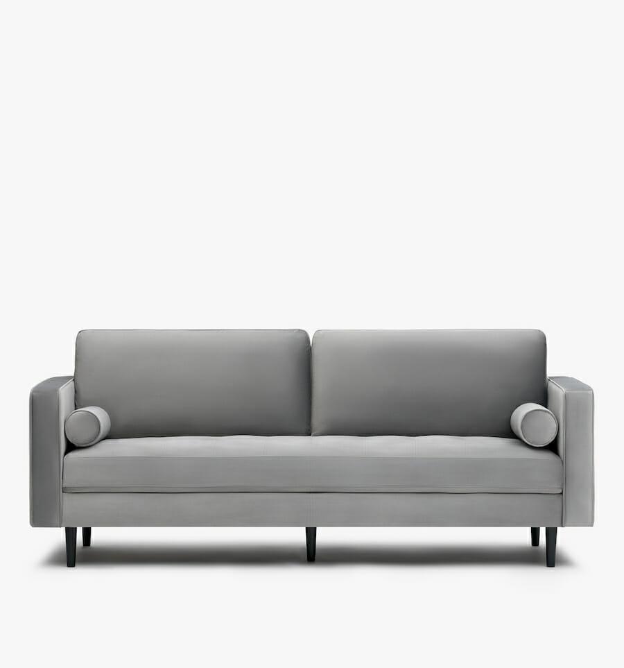 soho velvet sofa - grey