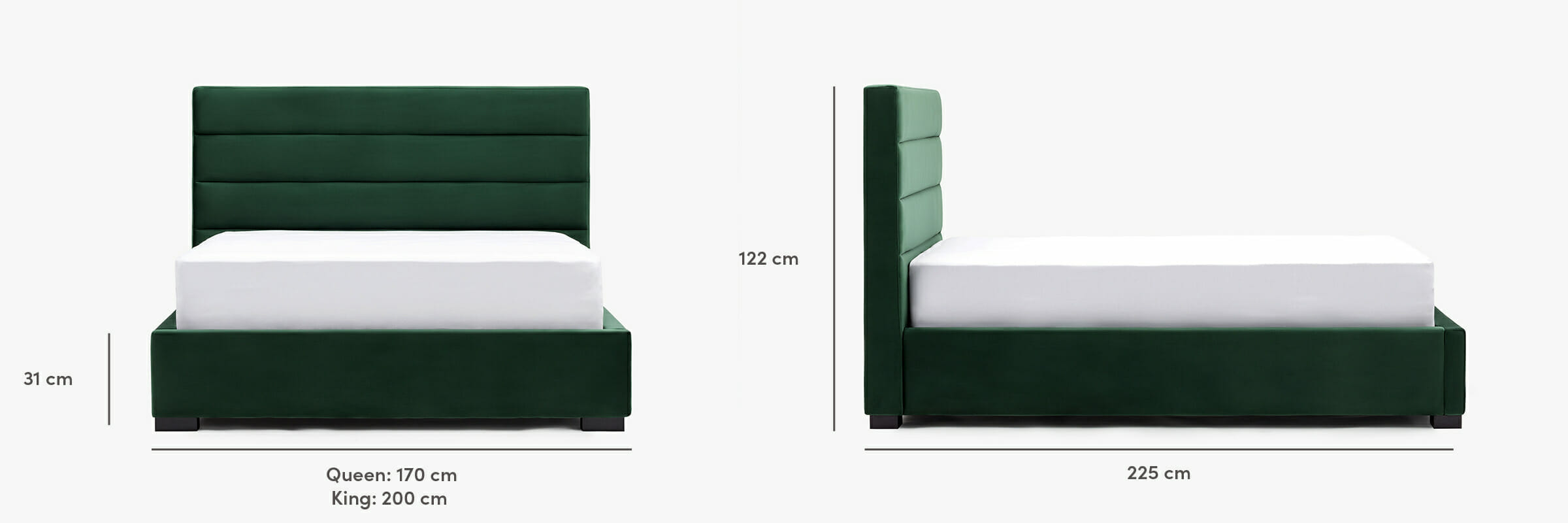 Oxford bed dimensions