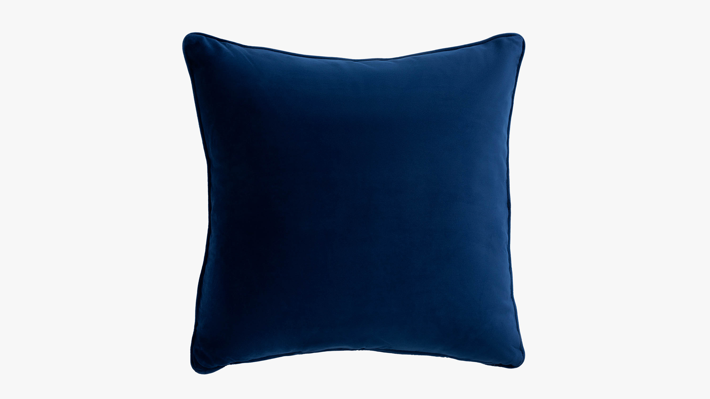 Eden velvet cushion - blue