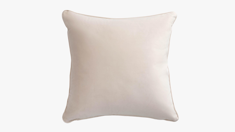Eden velvet cushion - cream