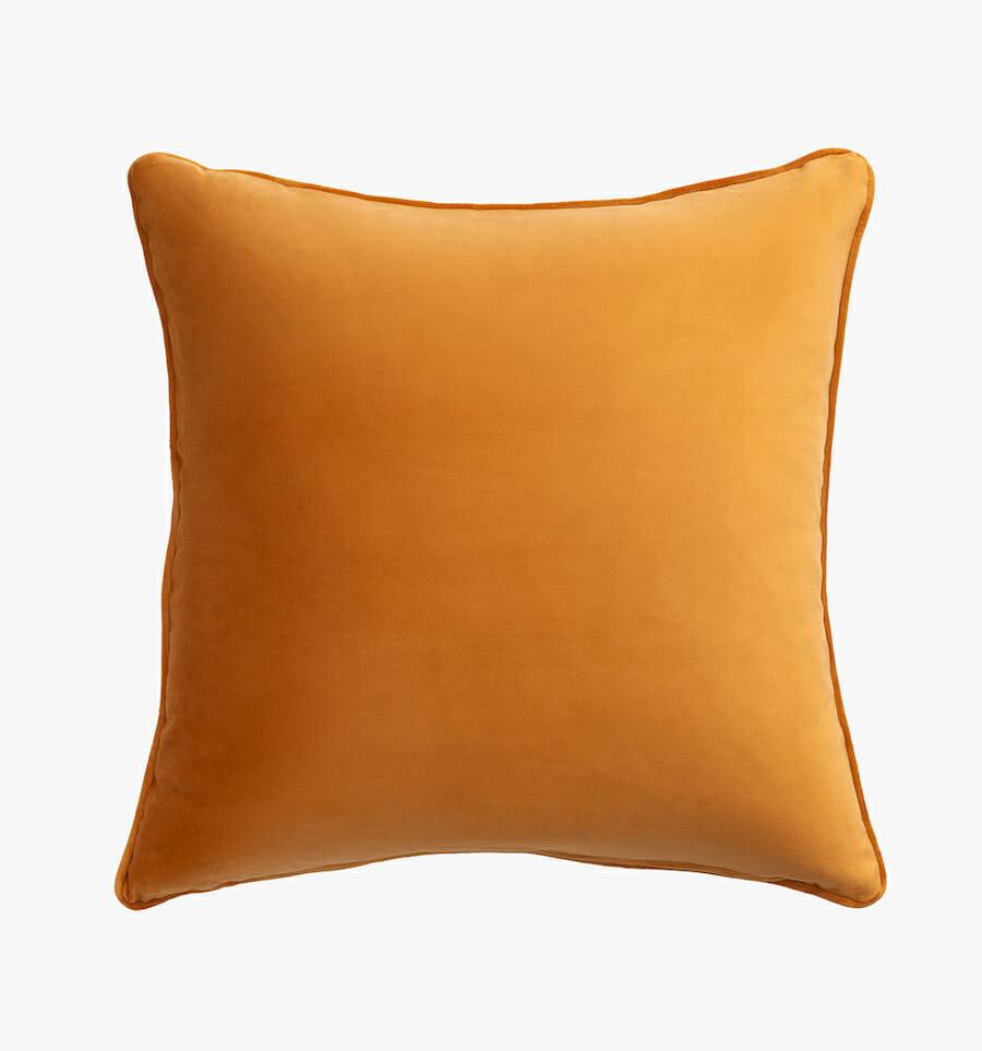 Eden velvet pillow - gold
