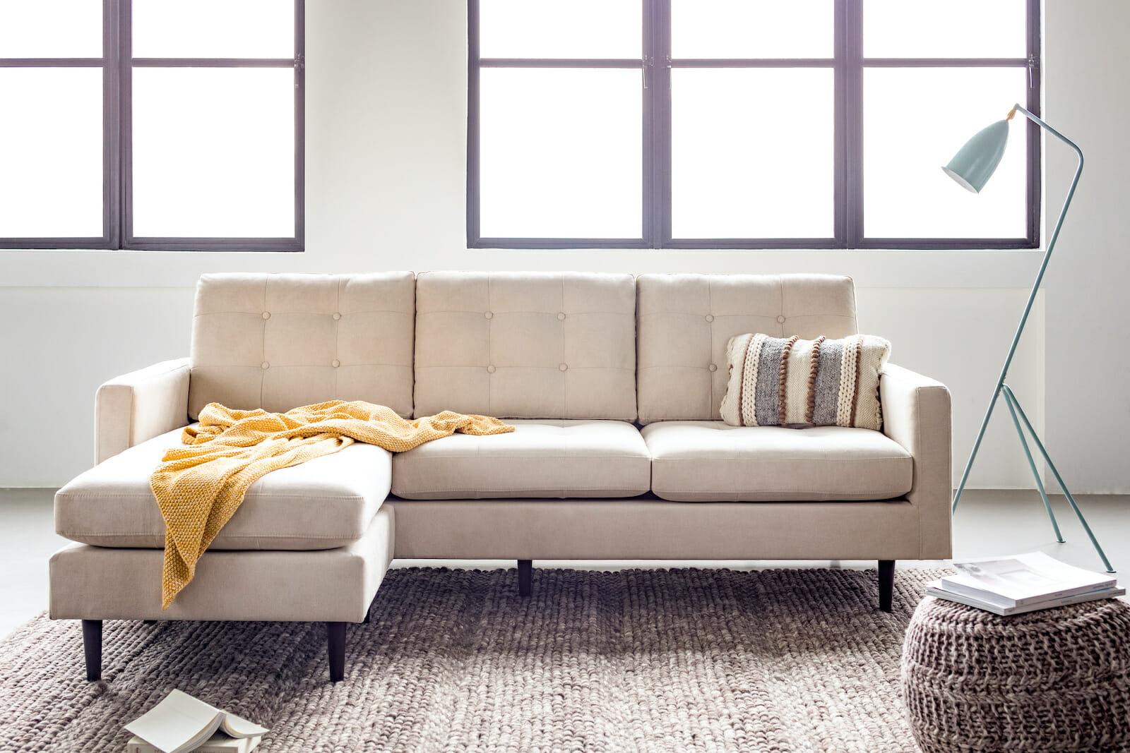 Noa madison sectional sofa