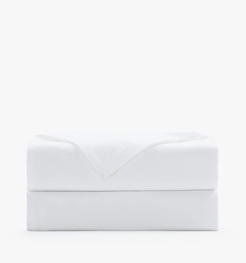 Cotton sateen white flat sheet