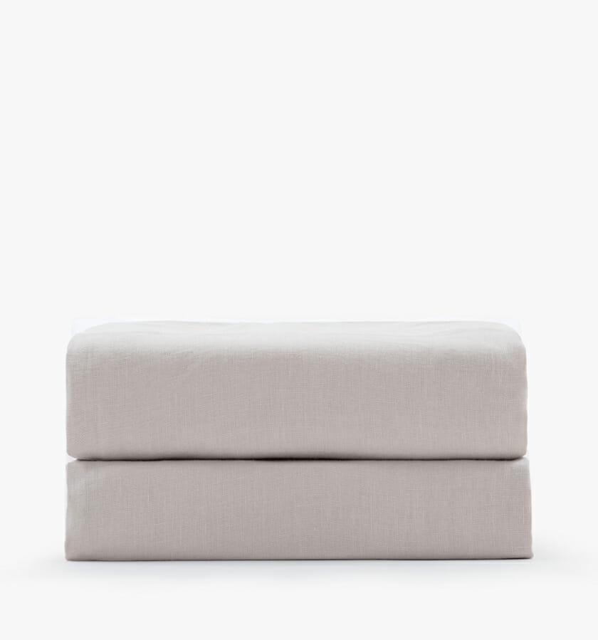 Linen fitted sheet - sand