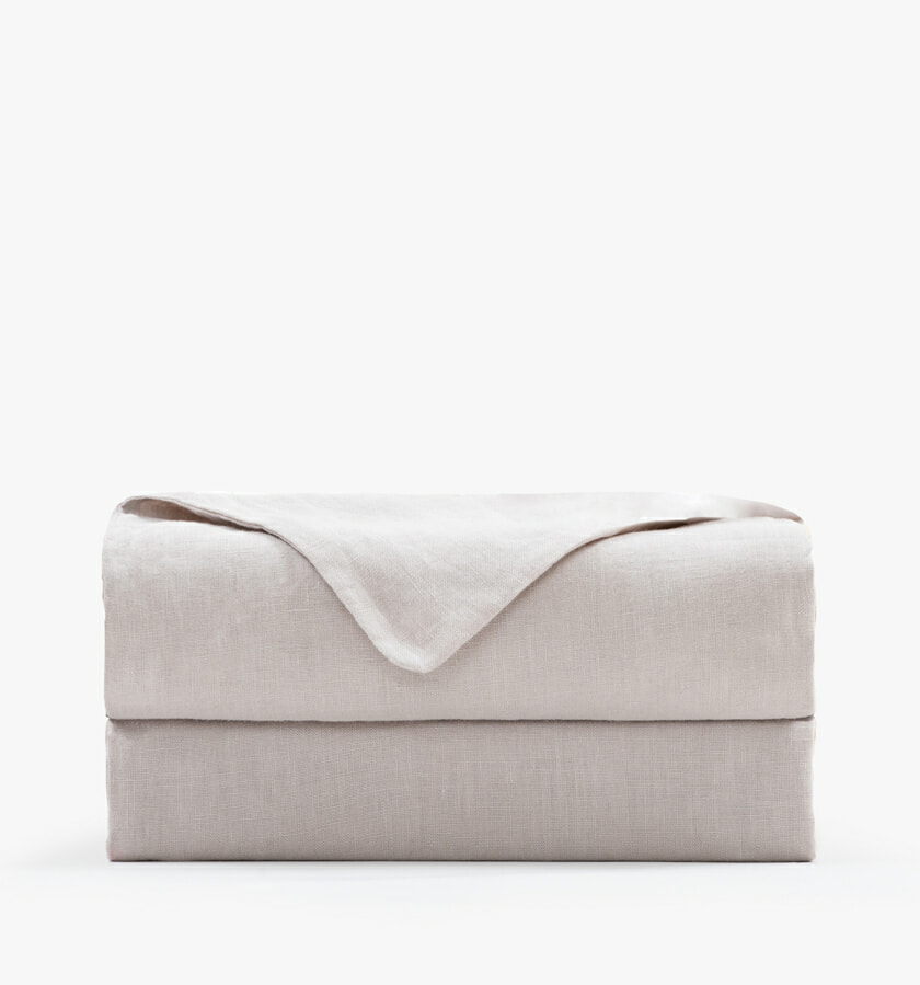 French Linen Flat Sheet sand