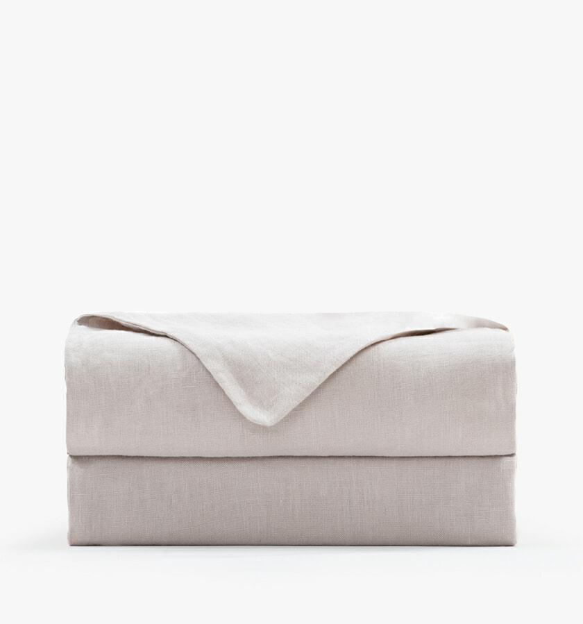 French Linen Flat Sheet sand