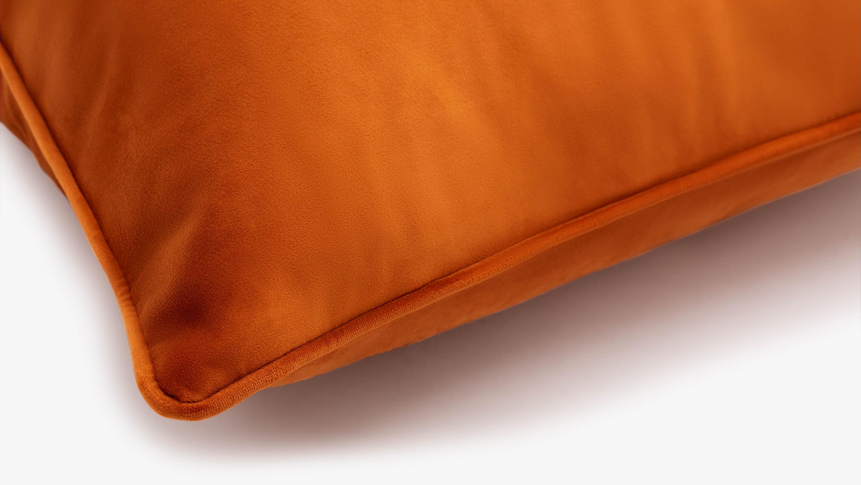 Coussin en velours Eden - orange