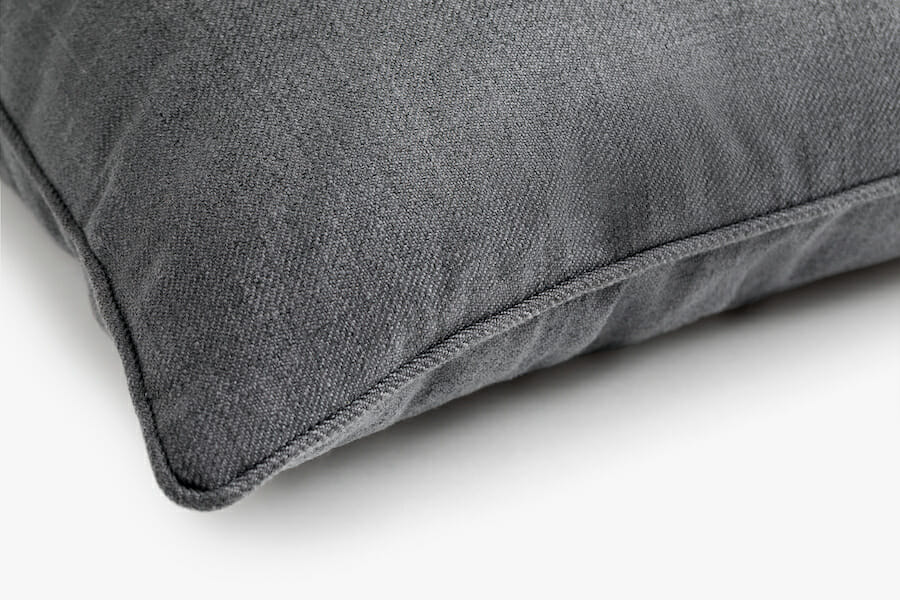 Coussin tissu eden - Gris foncé