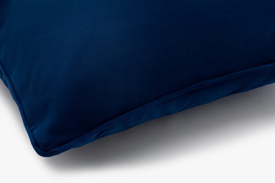 Coussin velours eden - bleu