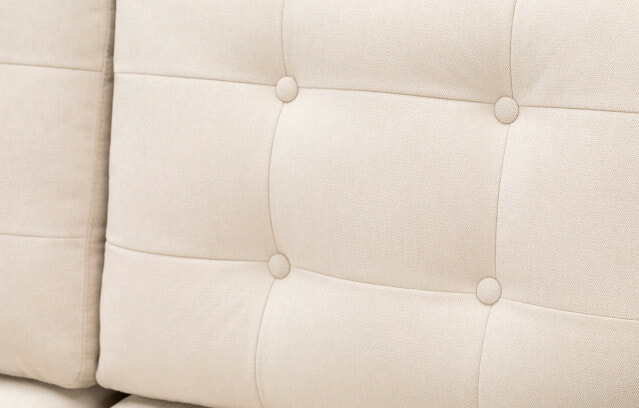 Madison sofa ivory tufting