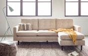 Madison sectional sofa cream