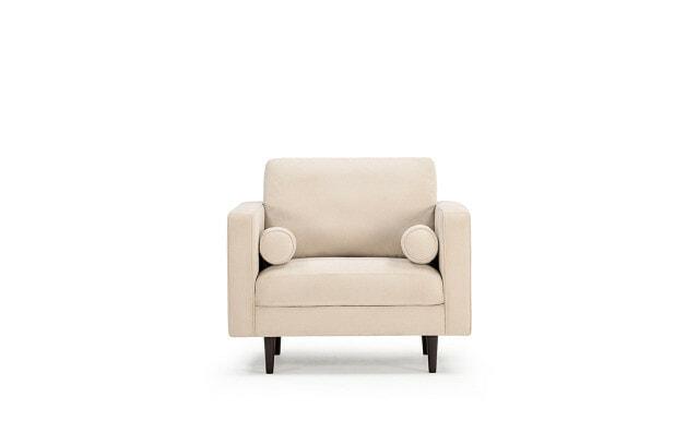 Soho armchair in ivory