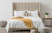 The Noa Venice bed in ivory