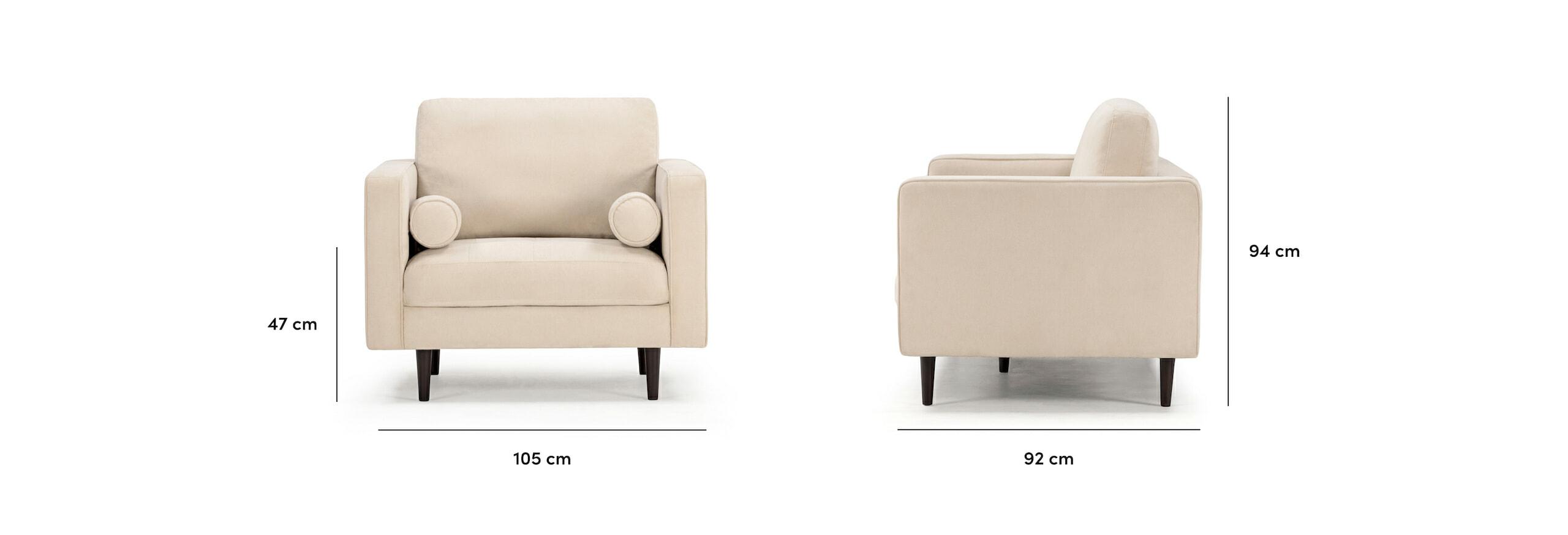 Soho armchair dimensions