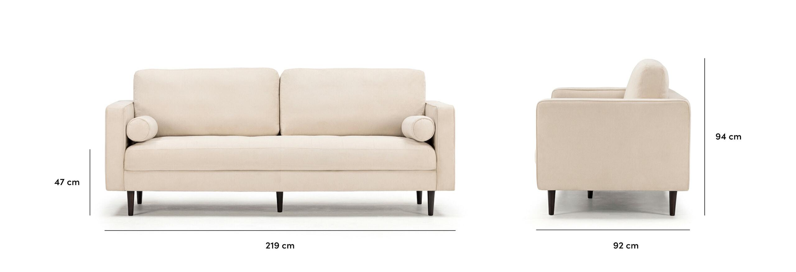 Soho sofa dimensions