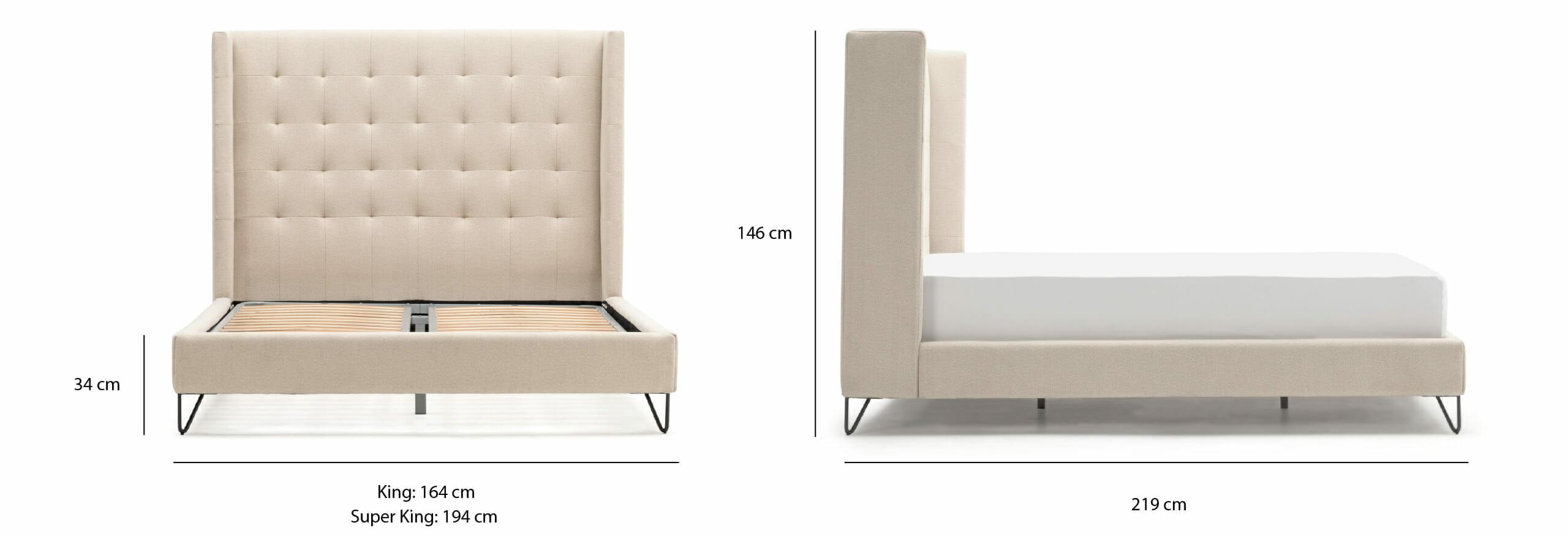 Noa Venice bed dimensions (UK)