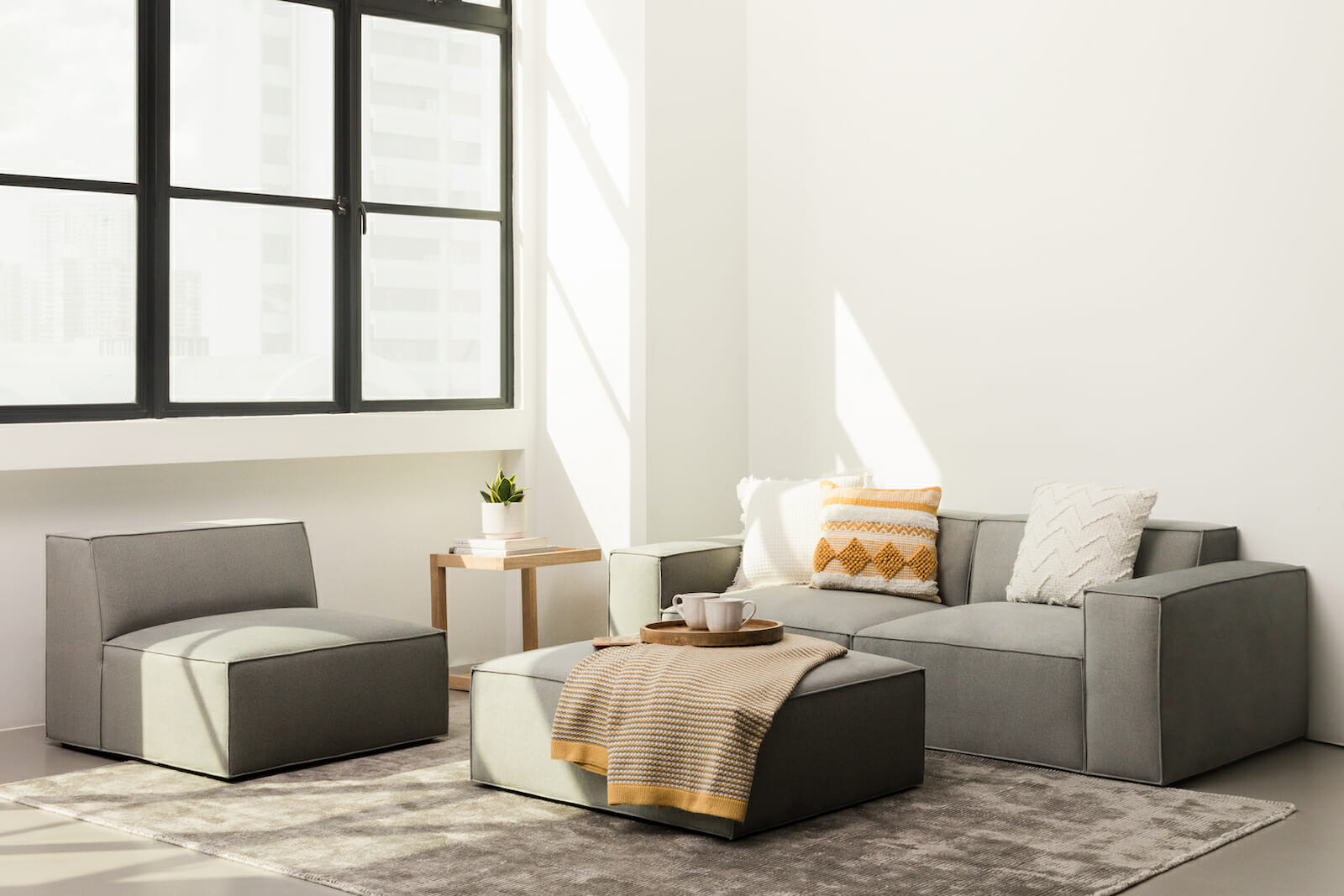 The pacific modular sectional - grey