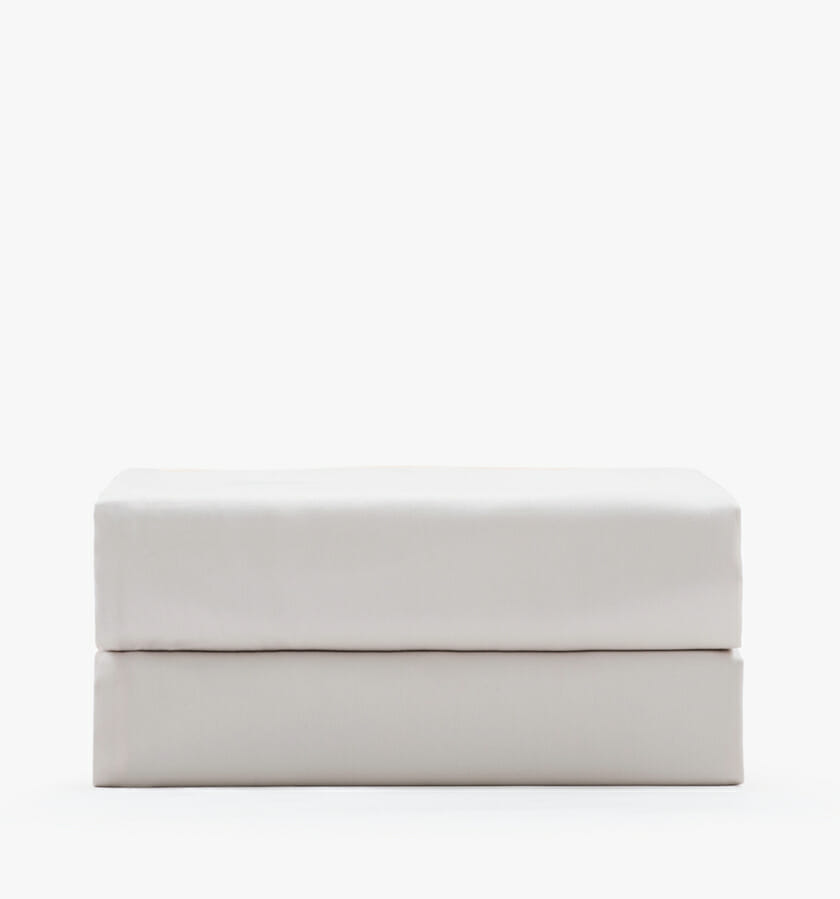 Cotton sateen sand fitted sheet