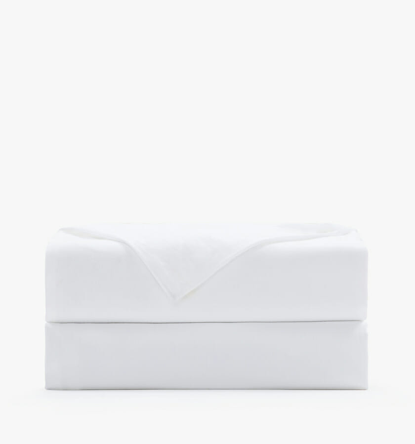 Cotton sateen white flat sheet