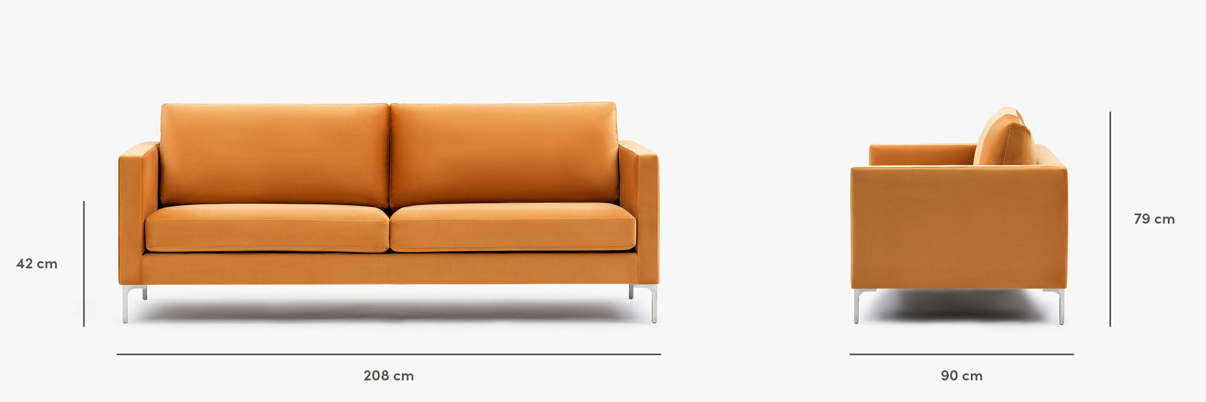 The monaco sofa dimensions