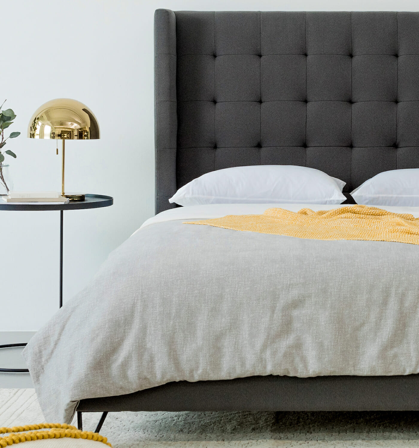 The Noa Venice bed - Charcoal