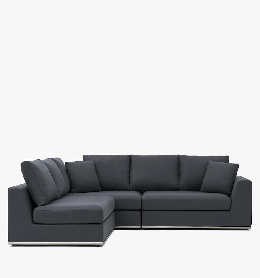 Flow sectional - charcoal