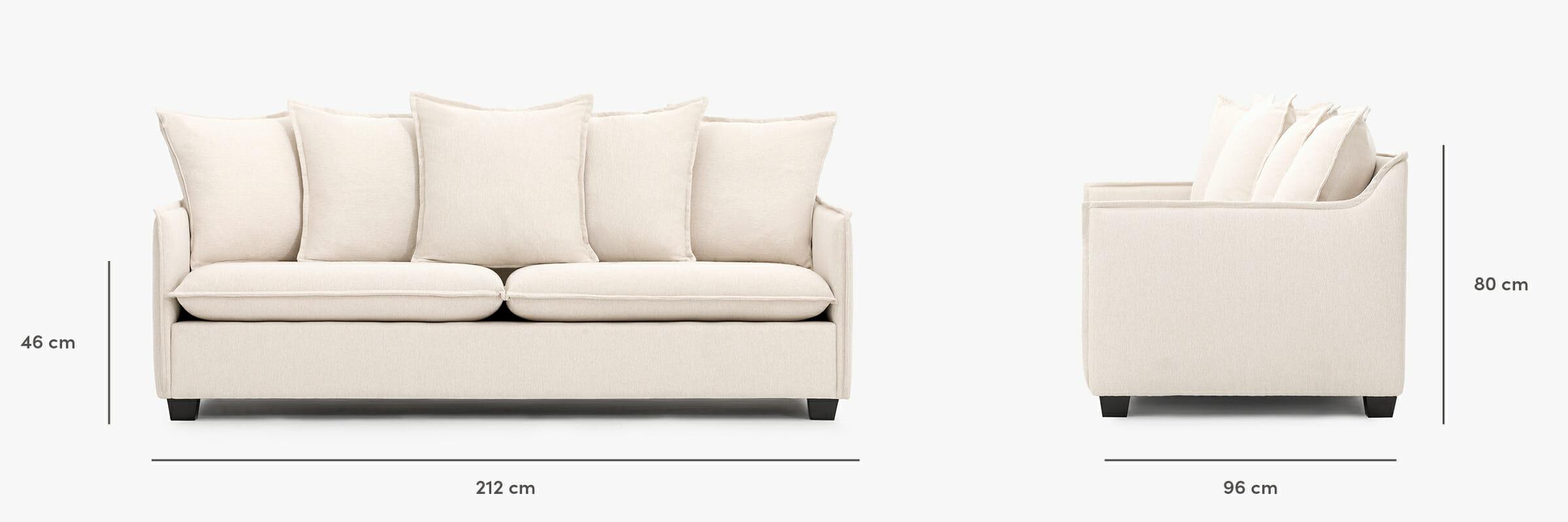 The Miami Sofa dimensions