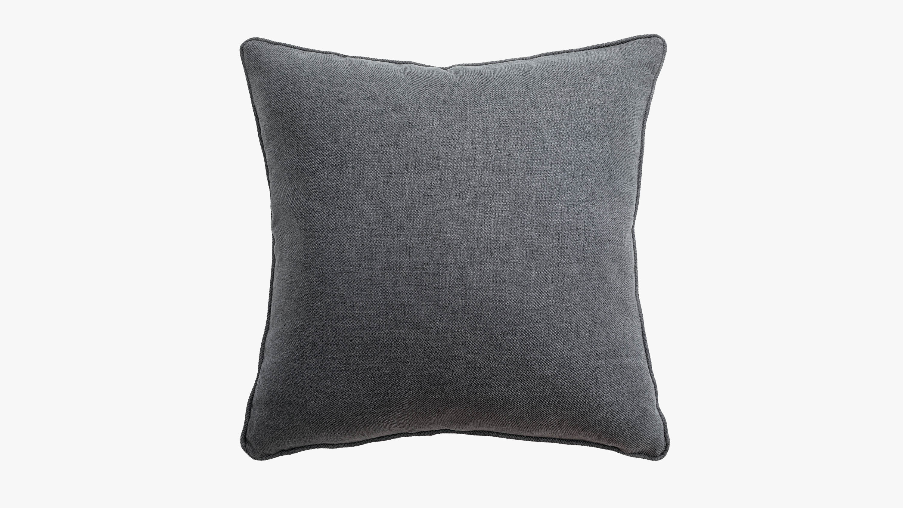 The eden fabric cushion - charcoal