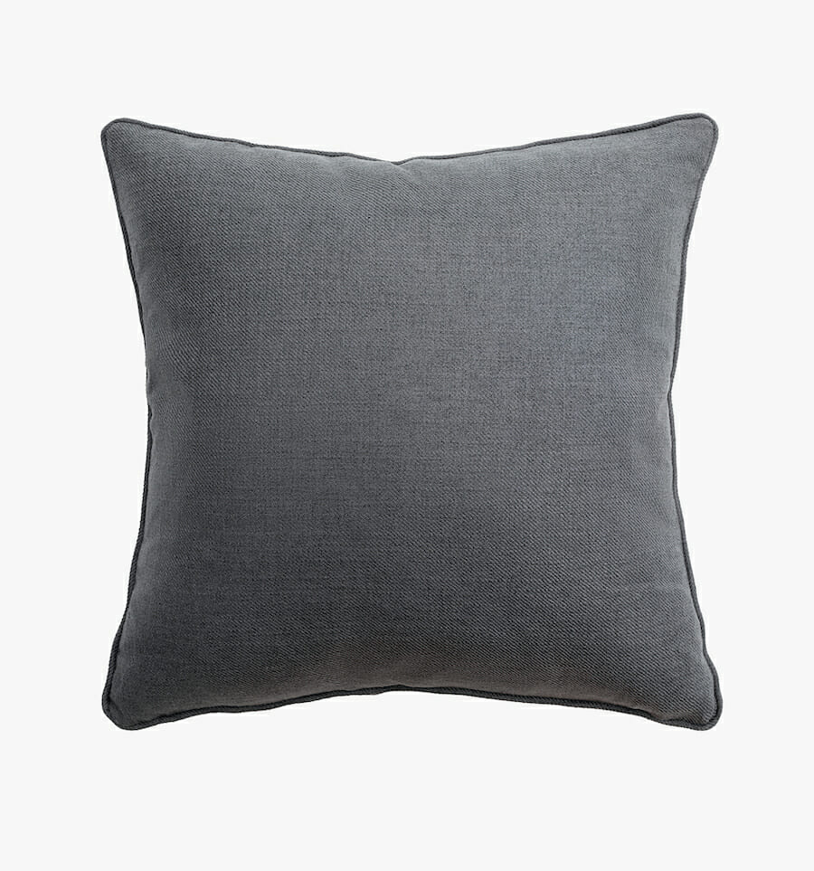 Fabric pillow - charcoal