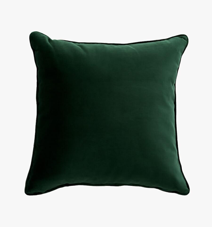Velvet pillow - green