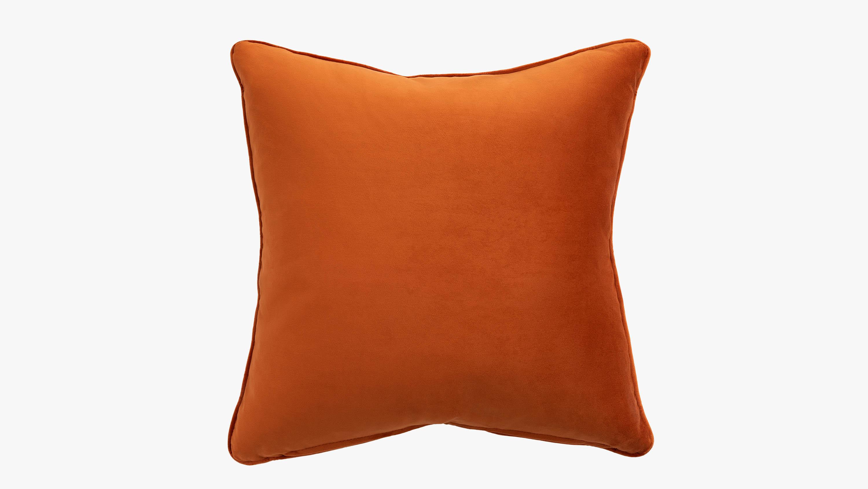 The Eden Velvet Cushion - orange