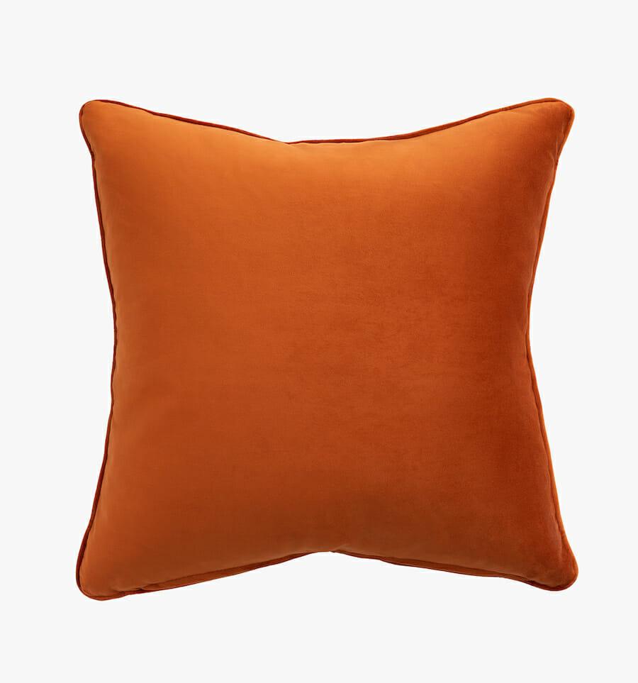 Velvet pillow - orange