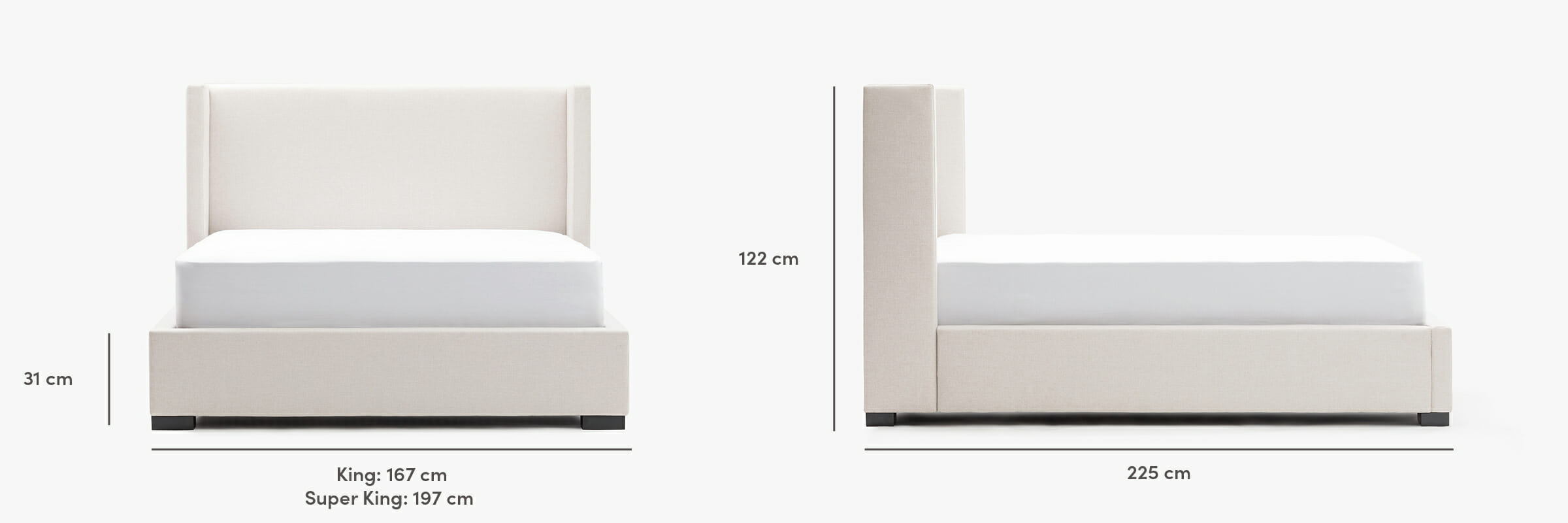 The Osaka bed dimensions