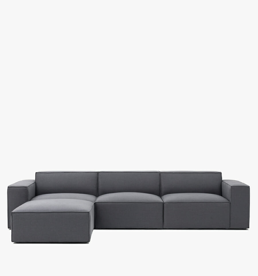 Pacific sectional - charcoal